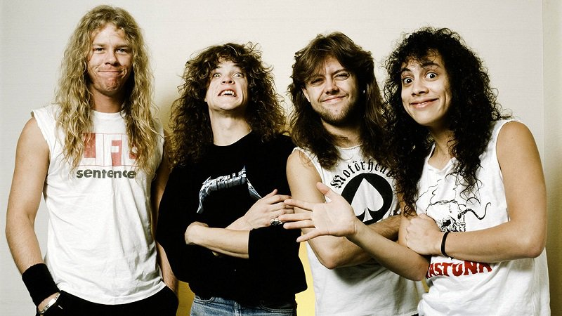 metallica, pierwszy sklad, James Hetfield, Cliff Burton, Lars Ul